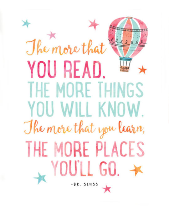 reading helps you go places